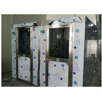 HEPA Filtered Stainless Steel Cleanroom Air Shower Channel , PLC Control System Manufactures