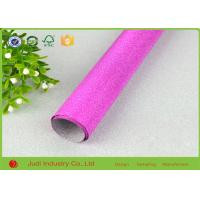 China Fancy Design Printed Roll Wrapping Paper Glitter / Velvet Treatment 70cm X 300cm on sale
