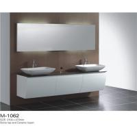 Wall Mounted Double Sink Bathroom Vanity Stable Mould Resistant Customized Color Manufactures