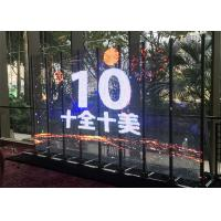 Quality Slim Translucent Led Display , P7.8mm Transparent Led Curtain Screen For for sale