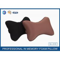 Black Colour Memory Foam Car Neck Pillow , Auto Head Support Cushion Manufactures
