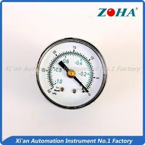 China Aluminum Black Vacuum Pressure Gauge / ABS Plastic Dial Pressure Gauge on sale