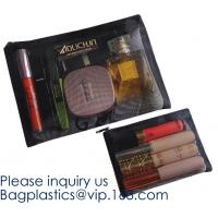 Travel Makeup Brush Mesh Cosmetic Bag,Net Zipper Make Up Mesh Cosmetic Pencil