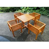 China Waterproof Garden Table And Chairs , Solid Wooden Garden Furniture Stable Durable on sale