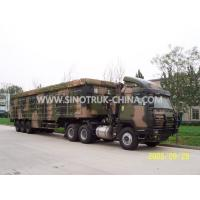 12 Wheels Lightweight Camouflage Box Trailer Truck , Military Box Trailer Manufactures