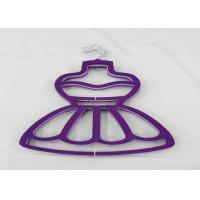 Pink / Purple Velvet Clothes Hangers For Skirts Full Body 29 Cm Length Manufactures