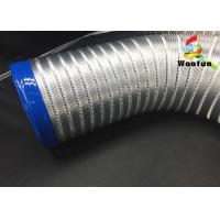 All Sizes Multi Function Semi Rigid Aluminum Air Duct / Flexible Air Intake Duct Manufactures