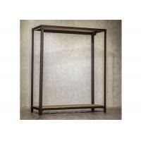Metal Wall Mounted Display Shelves , Practical Wall Mounted Clothes Rack  For Retail Store Manufactures