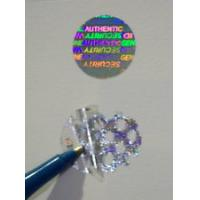 Gold Warranty Void Labels / Security Hologram Stickers Solid 3d Image Manufactures