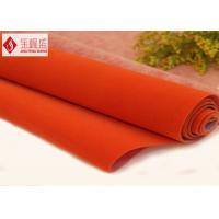 Jewelry Box Lining Polyester Velvet Fabric , Customized Flocked Upholstery Fabric Manufactures