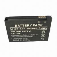 Mobile Phone Battery with 800mAh Capacity, Suitable for Motorola RAZR V3, RAZR V3i, RAZR Manufactures