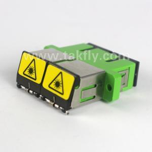 SC duplex fiber optic adapter with outwards shutter plastics fiber optic coupler Manufactures