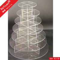 Quality Clear Acrylic Cake Stand  Eco - friendly For Home Birthday Celebrtaion Party for sale