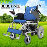 Multi Sizes Handicapped  Electric Folding Wheelchair With Swing Away Armrest Manufactures