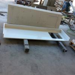 Engineered Kitchen Countertops White Quartz Countertop Slabs 3200mm*1600mm Quartz Stone Manufactures