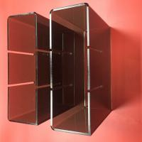Quality Black Acrylic Displa Stands For Wine Bottle Storage 10 x 10 x 10 cm Hole ISO9001 for sale