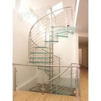 Buy cheap Prefabricated Stainless Steel Glass Staircase from wholesalers