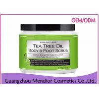 China Tea Tree Oil Natural Body Scrub Foot Antibacterial Exfoliator Customized Size on sale