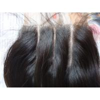 China High quality virgin brazilian hair, three parts lace closure on sale