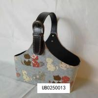 China Faux Leather Tote Basket with Buckle Leather Storage Basket Flowers Fruits Magazine Holder Rack on sale