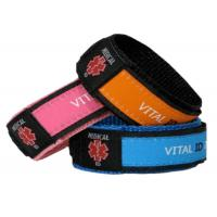 Adjustable Nylon Vital ID Bracelet Color Customized With Waterproof ID Tag Manufactures