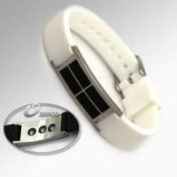 White Color Wrist Power Balance Sports Silicone Bracelet with Pure Titanium Manufactures