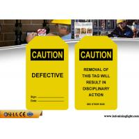 Industrial Safety Lock Out Tags With Padlocks Custom Language PVC Material Manufactures