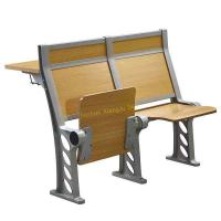Beige College Stadium Amphitheater Chair And Fixed Desk Multiple - Plywood Floor Mount Stand Feet Manufactures