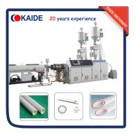 Plastic Pipe Extrusion Machine for PPR-GF-PPR Composite Pipe Speed 28m/min Manufactures