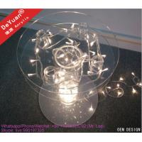 Custom Size Transparent  Acrylic Cake Display Stands With LED Light