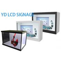 Wall Mounted Transparent LCD Display Showcase 32 Inch With Android System Manufactures