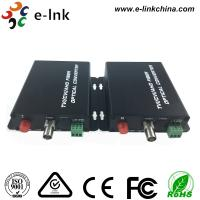 Black AHD CVI TVI Video Over Fiber Optic Ethernet Media Converter Single Mode Fiber Manufactures