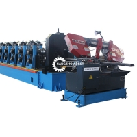 China Heavy Gauge 5MM 6MM Guardrail Roll Forming Machine on sale