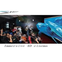 4D Movie Theater With Motion Chair Seat, Special Effect System, Flat / Arc Screen Manufactures