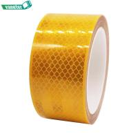 PVC Material Colored High Visibility Reflective Adhesive Tape Fluorescent Yellow Color Manufactures