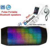 China Pulse Wireless Bluetooth Speaker mini speakers for phone listen music/sport bicycle outdoor speaker LED lights BS-009 on sale