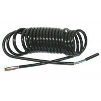 Coiled Power Cord  , Curly Electric Cable For Truck Trailer Signal Transmission Manufactures