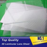 China PLASTIC LENTICULAR Clear PET 100 lpi 3D Lenticular Foil Lens Sheets plastic 3d film materials for 3d lenticular painting on sale