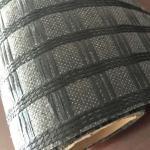 Black Fiberglass Sewed Plastic Geogrid Coating Asphalt Geogrid For Road Construction Manufactures