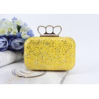 Fashion product ladies mini handbags pu glitter leather clutch bags evening bag Manufactures