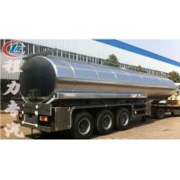 high quality and best price stainless steel 40000L-50000L milk tank trailer for sale, HOT SALE!40-50m3 milk tank Manufactures