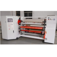 China Double Shafts Adhesive Gummed Paper Tape Rewinding Machine on sale