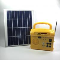 China Portable Small Solar Energy System With Radio , Solar Powered Generator on sale