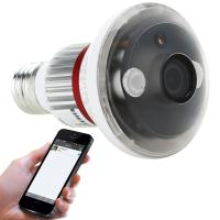 EAZZYDV Wireless Mini Bulb-shaped Security Wifi Camera by APP on Phone/PC ( Night Vison Motion Dection)