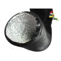 Quality High Temperature Round Flexible Duct 8 Inch PVC With Aluminum Foil for sale