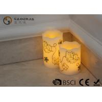 Luxury Carved Craft real Wax led Candles with flower pattern , painting candle Manufactures