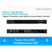 Quality All In One Terrestrial Digital TV Satellite Receiver IRD Support 2 CAM with HDMI SDI AV USB for sale