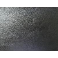 China Embossed Leather Upholstery Finished Pattern Black Color Thickness 1.0mm for Shoe, Belt on sale