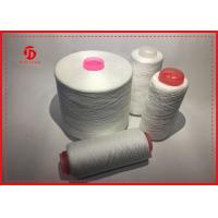 High Strengh Plastic Core Polyester Spun Yarn Raw White 20S - 60S Count Manufactures