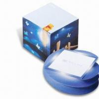 Cube Shaped Sticky Notepad, Measures 3.125-inch Manufactures